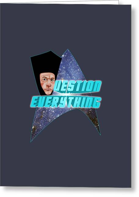 Q  Estion Everything  Greeting Card by Jason  Wright