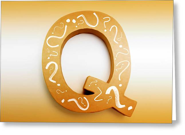 Q For Education And Learning Greeting Card