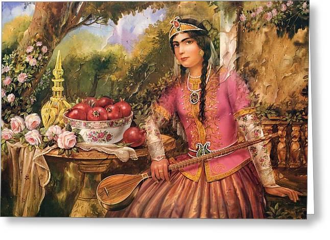 Qajar Woman by Shakiba GL5 Painting by Salma