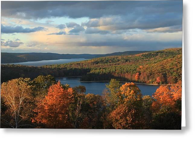 Quabbin Reservoir Autumn Greeting Card