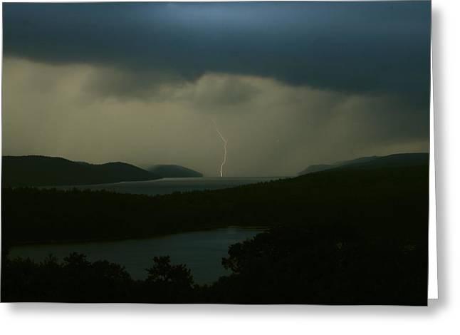 Quabbin Thunderstorm Greeting Card