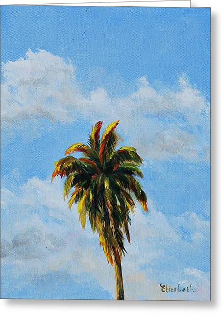 Quad Palms 2 Of 4 Greeting Card by Beth Maddox