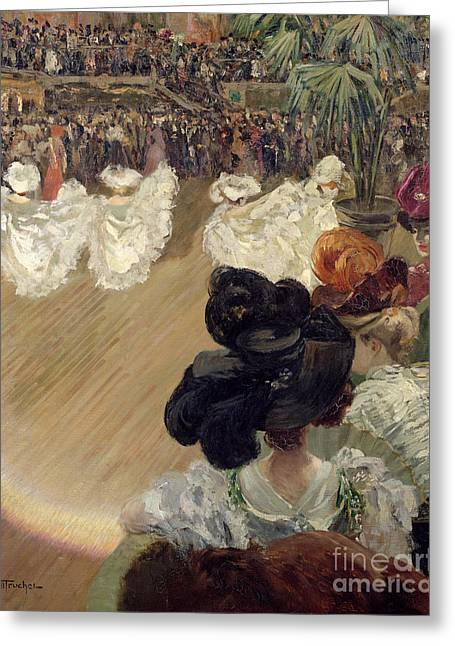 Plumed Greeting Cards - Quadrille at the Bal Tabarin Greeting Card by Abel-Truchet