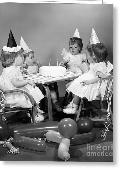 Quadruplets Celebrate Their Second Greeting Card