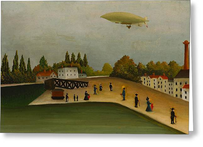 Quai D'ivry Greeting Card by Henri Rousseau
