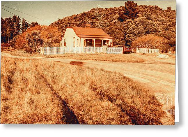 Quaint Country Cottage Greeting Card by Jorgo Photography - Wall Art Gallery