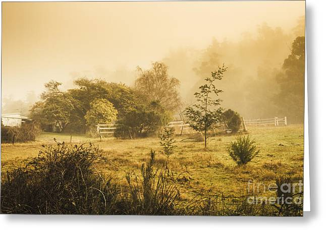 Quaint Countryside Scene Of Glen Huon Greeting Card by Jorgo Photography - Wall Art Gallery