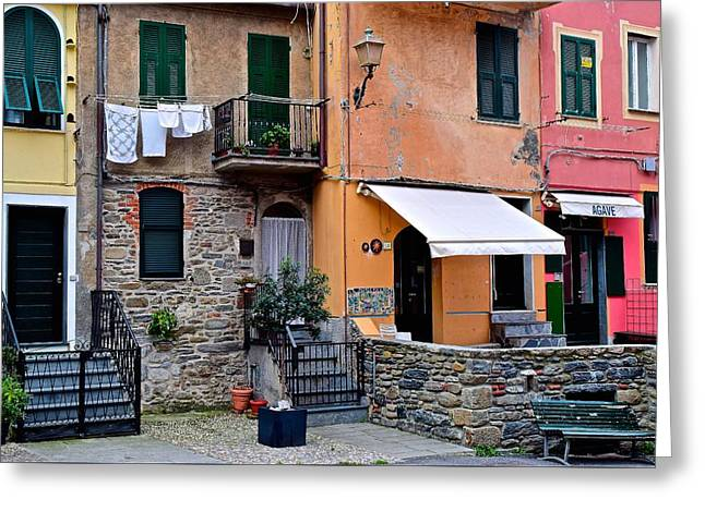 Quaint Italian Town Greeting Card by Frozen in Time Fine Art Photography