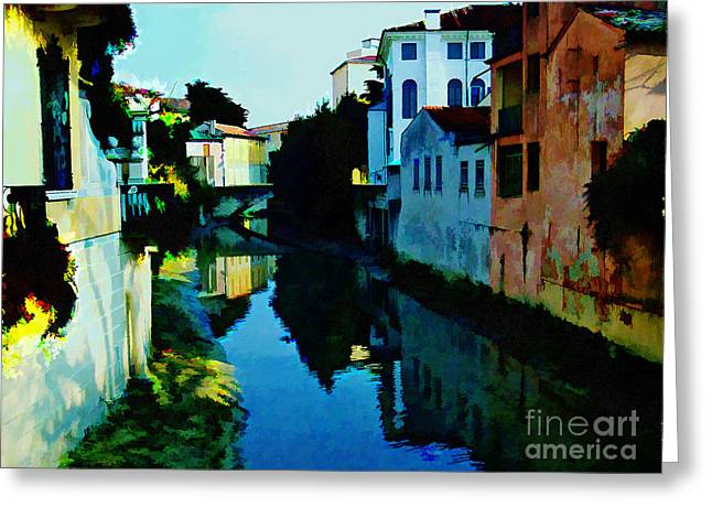 Greeting Card featuring the photograph Quaint On The Canal by Roberta Byram