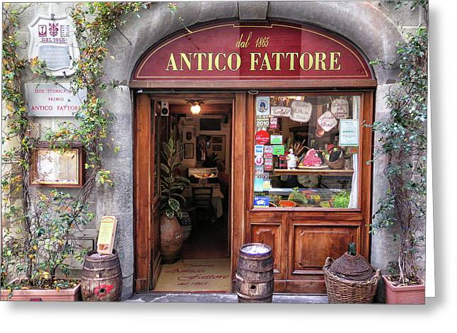 Quaint Restaurant In Florence Greeting Card