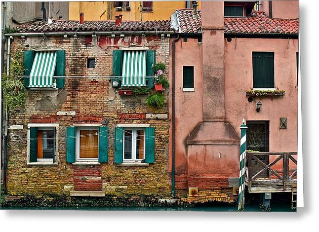 Quaint Venetian Home Greeting Card by Frozen in Time Fine Art Photography