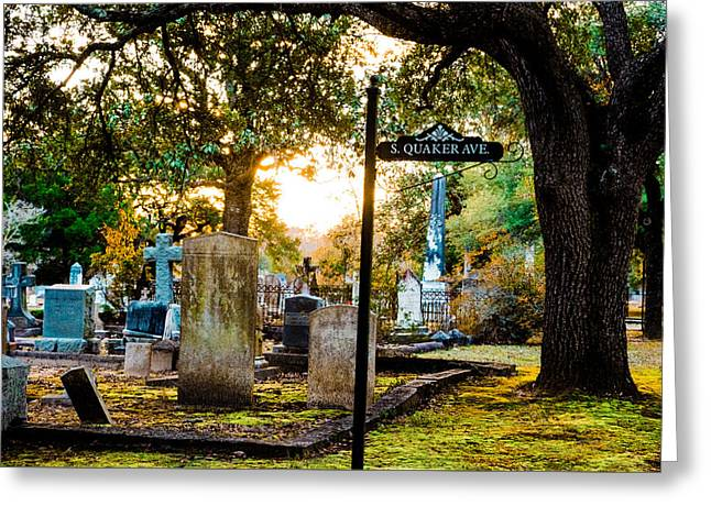 Quaker Cemetery 9 Greeting Card by Alicia Collins