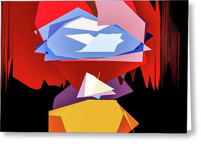 Quaker Color Abstract Greeting Card by Michael Arend