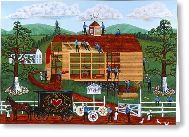Quaker Paintings Greeting Cards - Quakers Acres Greeting Card by Joseph Holodook