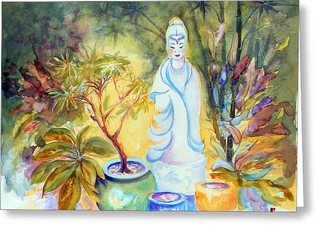 Quan Yin Garden Greeting Card