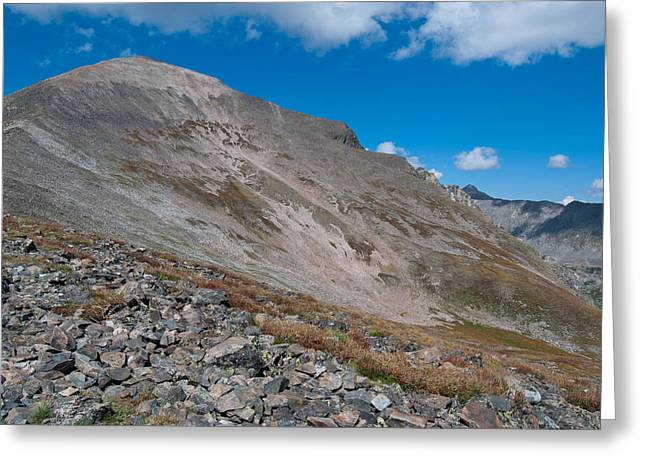 Greeting Card featuring the photograph Quandary Peak by Cascade Colors