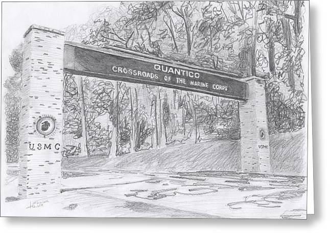 Quantico Welcome Graphite Greeting Card