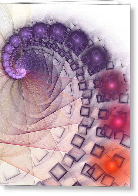 Greeting Card featuring the digital art Quantum Gravity by Anastasiya Malakhova