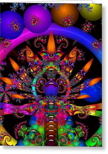 Greeting Card featuring the digital art Quantum Physics by Robert Orinski