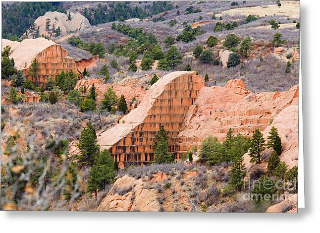 Quarry At Red Rock Canyon Colorado Springs Greeting Card