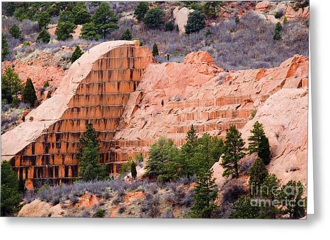 Quarry Closup At Red Rock Canyon Colorado Springs Greeting Card