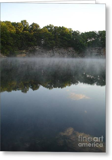 Quarry Reflections Greeting Card by Chad Natti