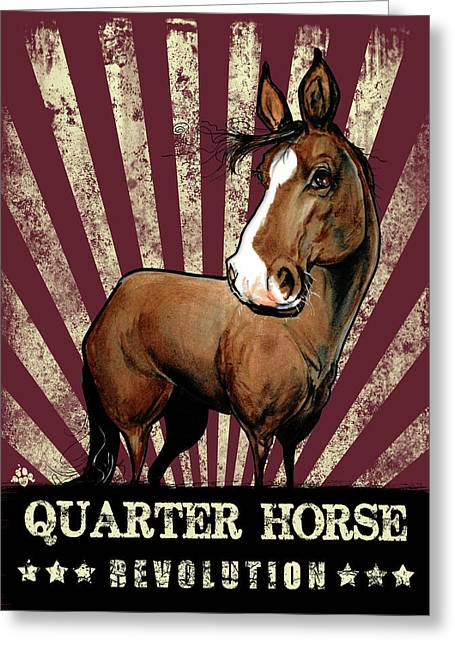 Quarter Horse Revolution Greeting Card