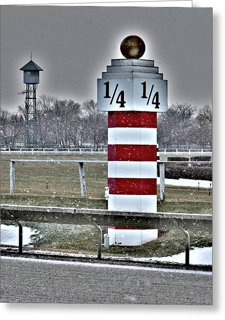Arlington Greeting Cards - Quarter Pole Greeting Card by David Bearden