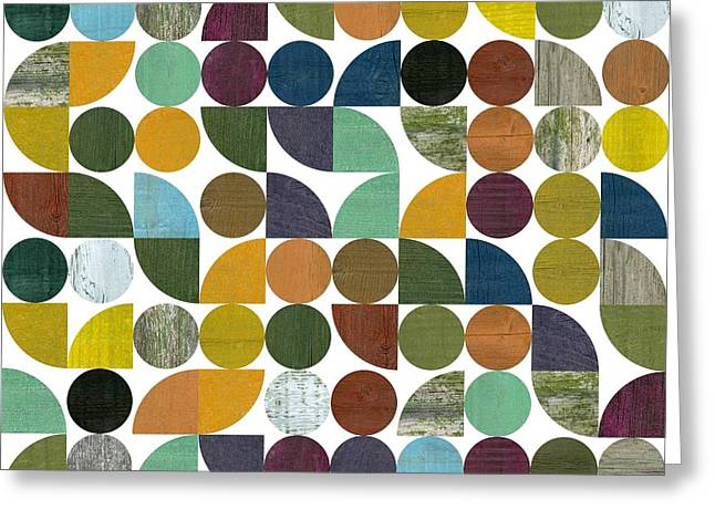 Greeting Card featuring the digital art Quarter Rounds And Rounds 100 by Michelle Calkins