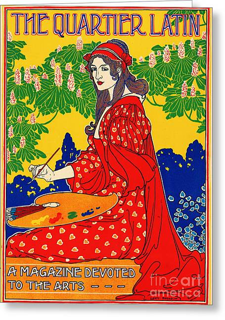 Quartier Latin Vintage Poster 1890 Greeting Card by Padre Art