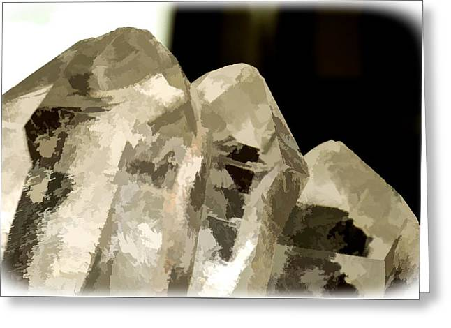 Quartz Crystal Cluster Greeting Card
