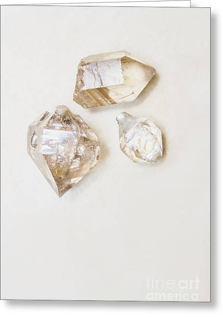 Quartz Crystals Greeting Card by Jorgo Photography - Wall Art Gallery