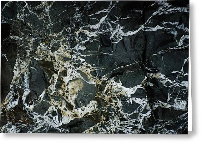 Quartz Veins Abstract 1 Greeting Card by Richard Brookes