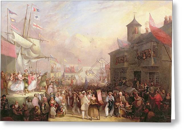 Quay Fair Greeting Card by John Grenfell Moyle