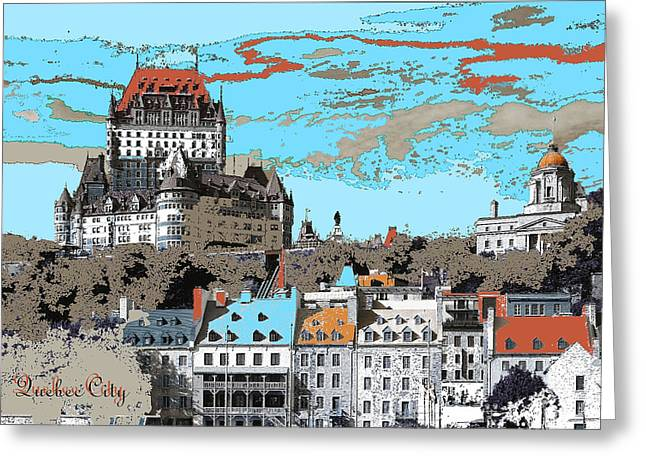 Quebec City Canada Poster Greeting Card