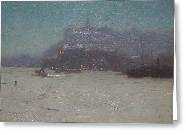 Quebec From The Harbor Greeting Card by Birge Harrison