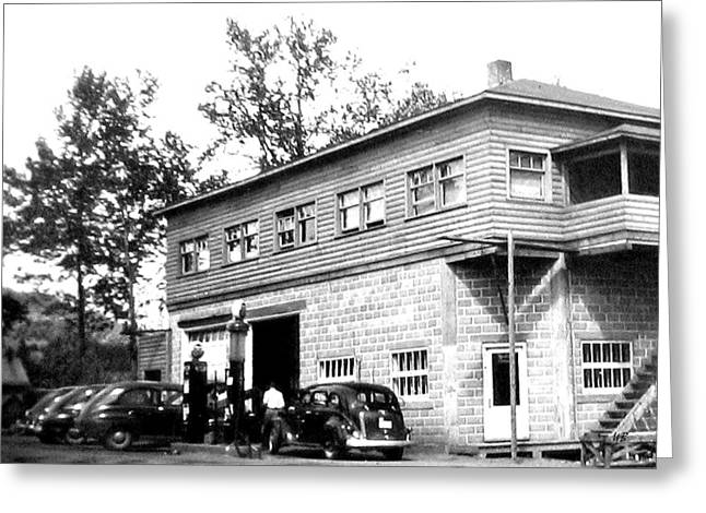 Quebec Garage 1940s Greeting Card by Will Borden