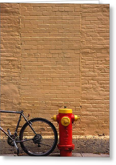Quebec Hydrant Greeting Card by Art Ferrier