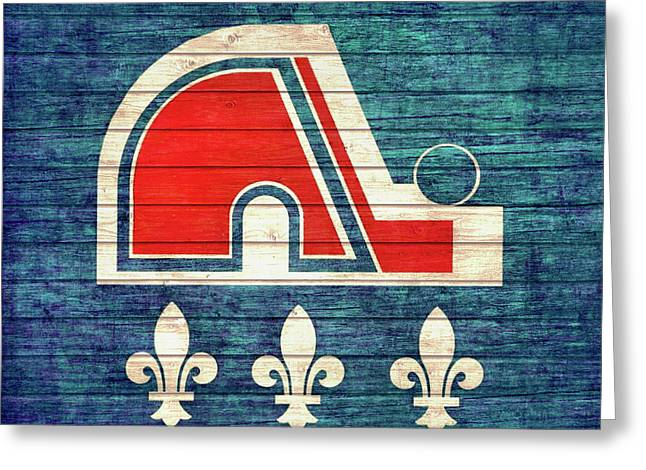 Quebec Nordiques Barn Door Greeting Card