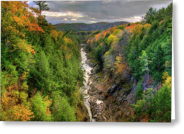 Greeting Card featuring the photograph Quechee Gorge - Quechee Vermont by Joann Vitali