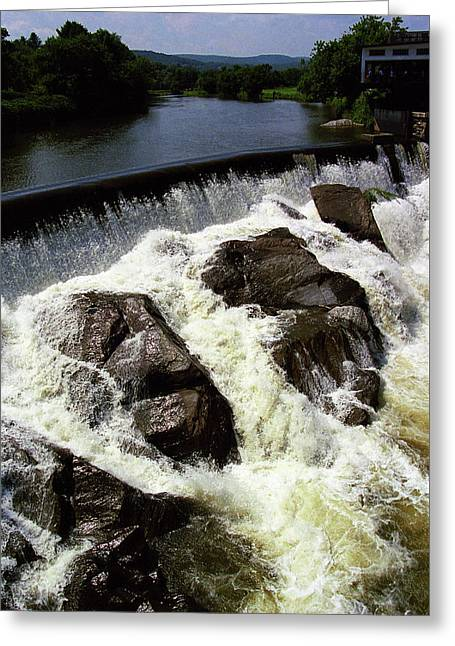 Quechee, Vermont - Falls 2 Greeting Card by Frank Romeo