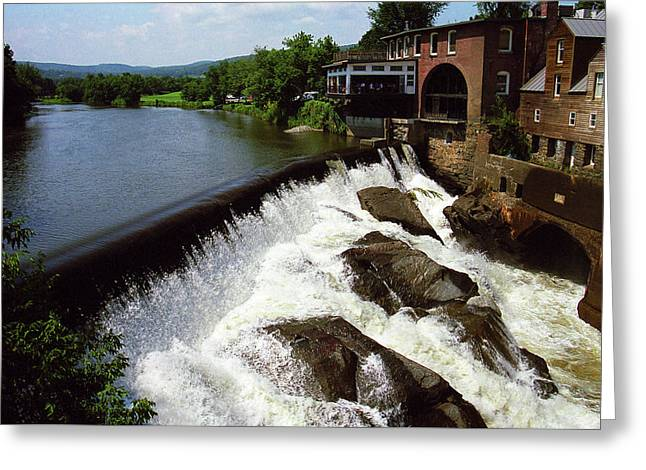 Quechee, Vermont - Falls 2006 Greeting Card by Frank Romeo