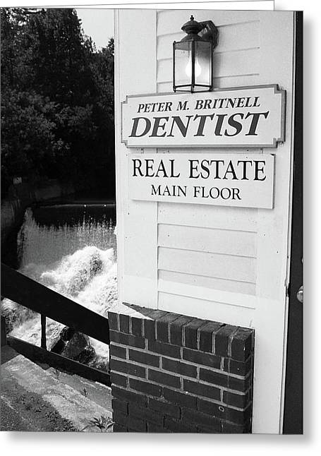 Quechee, Vermont - Falls Storefront 2006 Bw Greeting Card