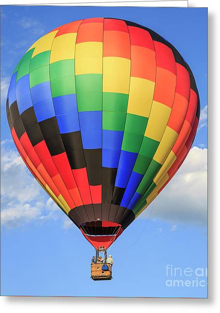 Quechee Vermont Hot Air Balloon Fest 3 Greeting Card by Edward Fielding