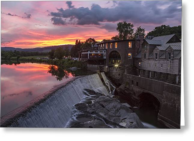 Quechee Vermont Sunset Greeting Card