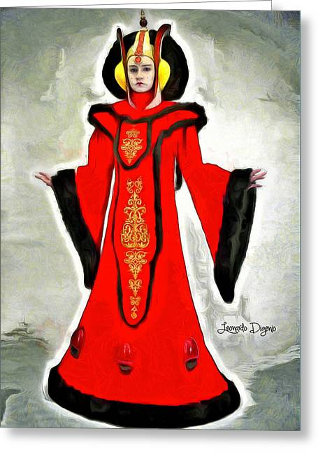 Queen Amidala Throne Room Costume Greeting Card