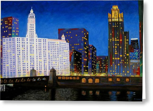 Queen And King Of Michigan Avenue Greeting Card by J Loren Reedy