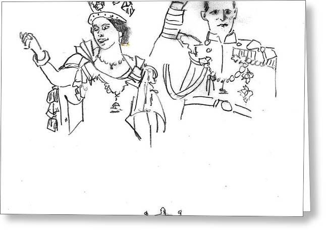 Queen And Prince Greeting Card