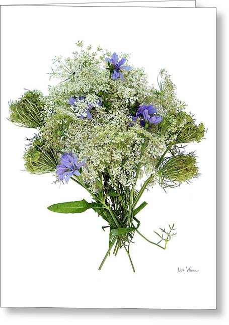 Queen Anne's Lace With Purple Flowers Greeting Card