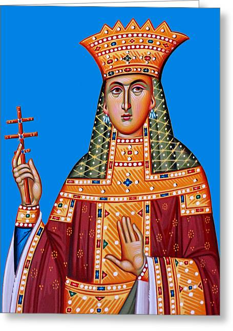 Queen At Monastery Of Shepherds Greeting Card